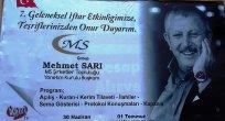 MEHMET SARI'DAN 7. İFTAR