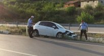 Taşova'da Trafik kazası bir yaralı