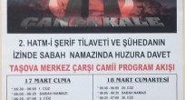 Taşova Müftülüğünden 18 Mart Çanakkale ve Şehitleri Anma Programı