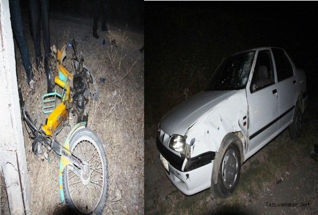 Taşova'da Trafik Kazası 2 Yaralı