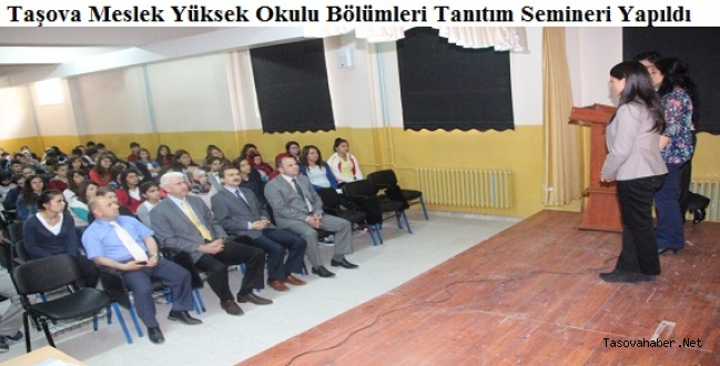 Taşova meslek yüksek okulu bölümleri tanitildi